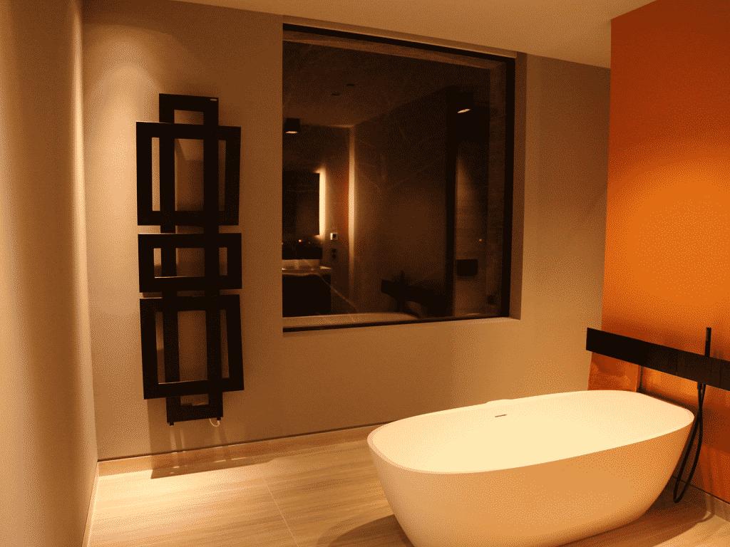 Villa contemporaine, domotique, éclairage, distribution audio et vidéo par habilis